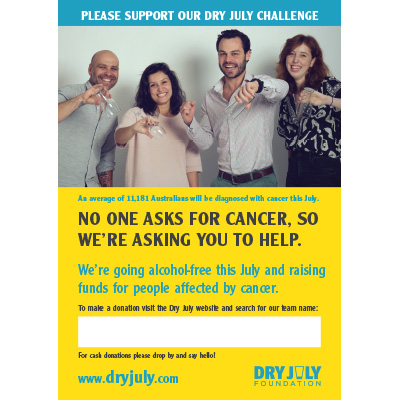 Support Our Dry July Team