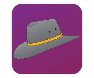 2. Pick a hat to wear