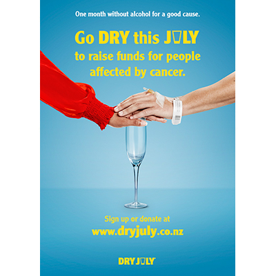 Dry July Event Poster