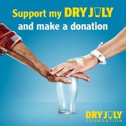 Support my Dry July and make a donation
