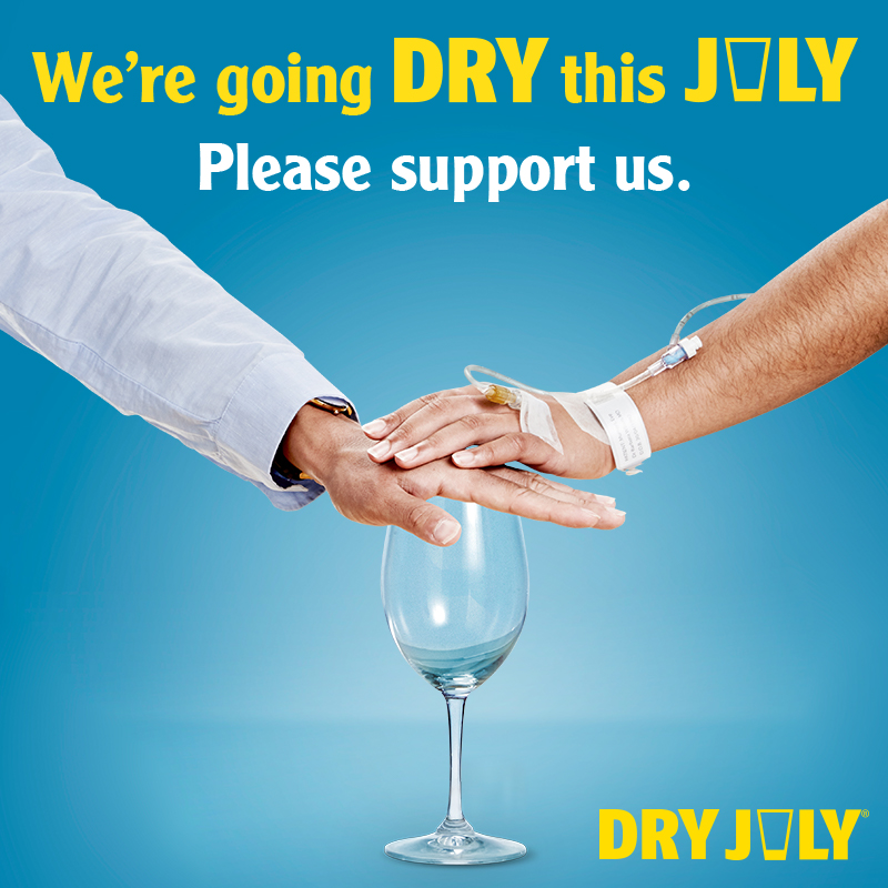 We're Dry this July. Please support us.