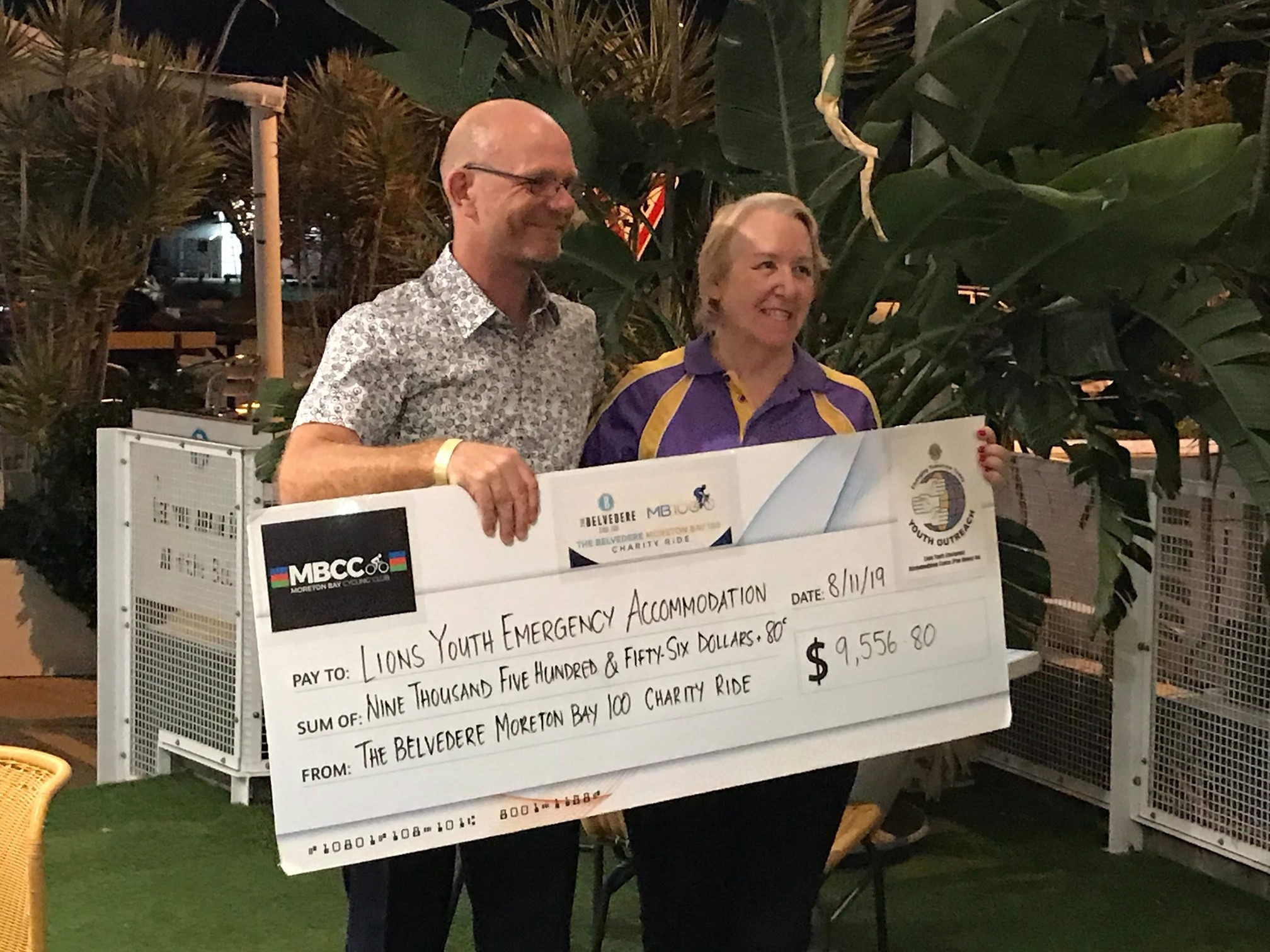 Cheque to LYEAC