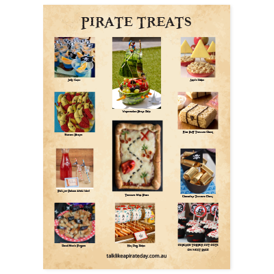 Pirate treats poster