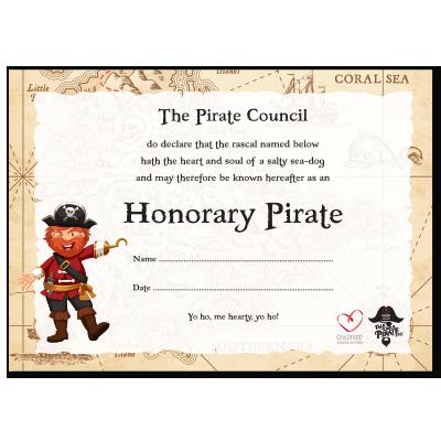 Pirate Certificate