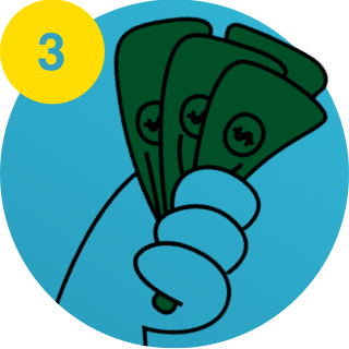 3. Hand holding money