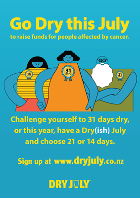 Go Dry this July poster