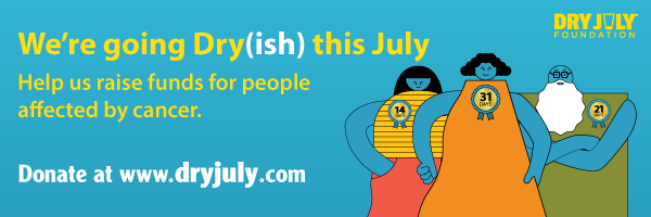 We're going Dry(ish) this July email signature