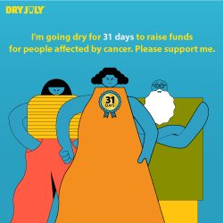 I'm going dry for 31 days this July. Please support me