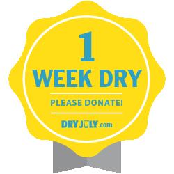 1 week dry badge