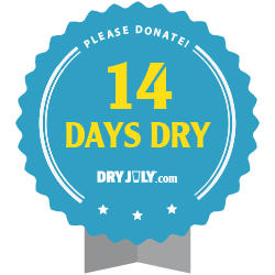 14 days dry badge