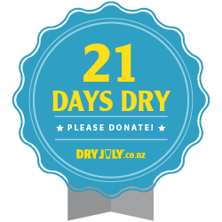 21 days dry badge