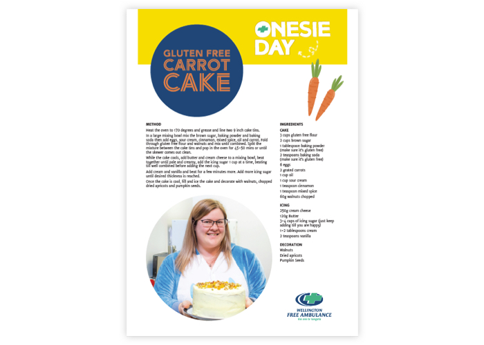 Sams Gluten Free Carrot Cake Recipe