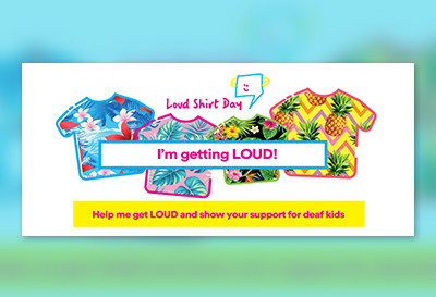 Facebook cover photo - individual - for Loud Shirt Day