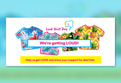 Facebook cover photo - group - for Loud Shirt Day