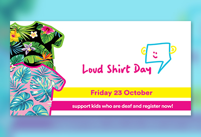 Facebook cover photo - event- for Loud Shirt Day