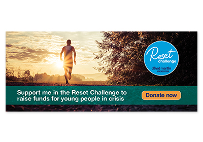 Reset Challenge Email Signature with picture of yoga