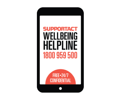 Support Act Wellbeing Helpline Image