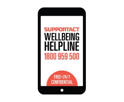 Support Act Wellbeing Helpline Image
