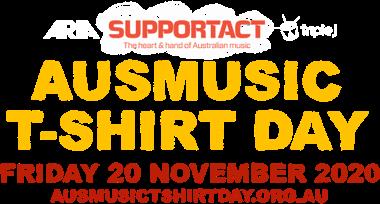 Ausmusic Tshirt Day Text Homepage Banner