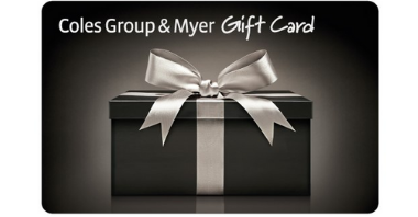 $100 Coles Group and Myer Gift Card 600 X 600
