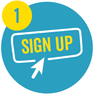 1. Sign up