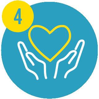 4. heart between upturned hands