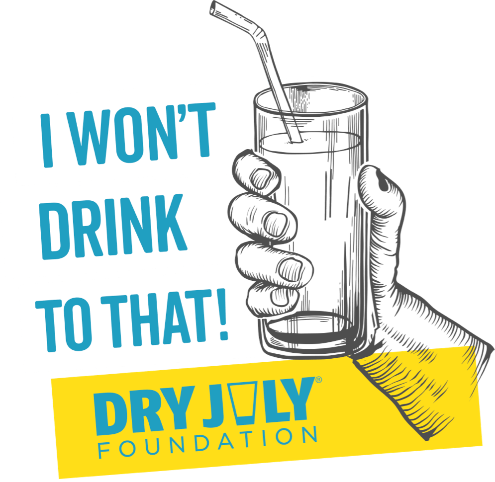 Dry July 2021 Campaign Logo - I won't drink to that