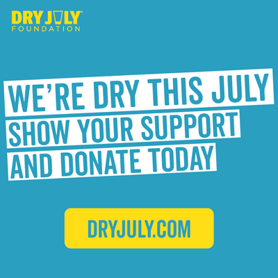 We're going dry this July. Please support us.