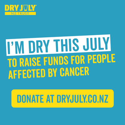 I'm Dry This July to raise funds for people affected by cancer