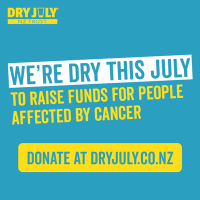 We're Dry this July for people affected by cancer