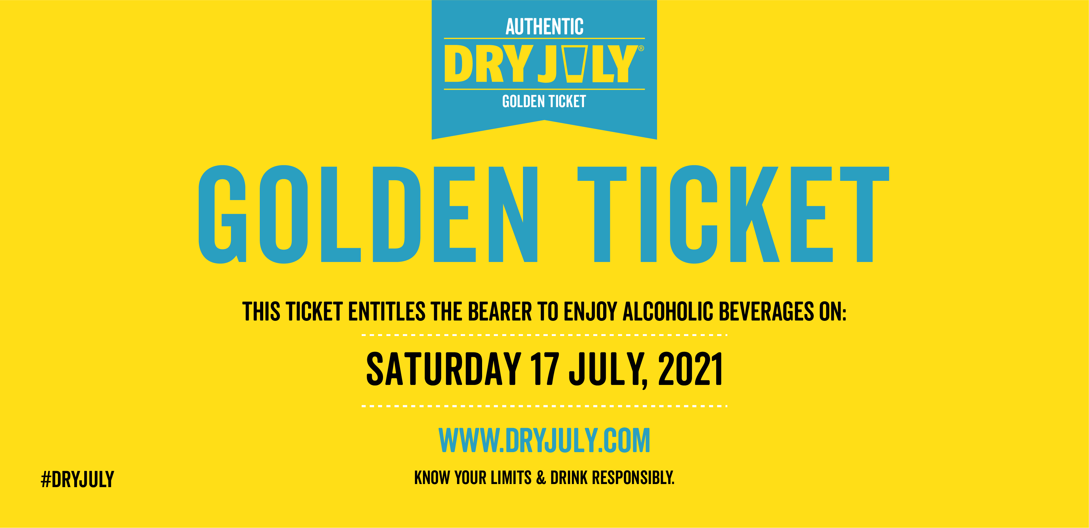 Dry July Golden Tickets