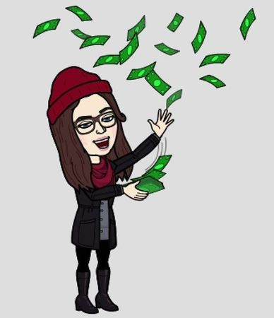 Small bitmoji with money
