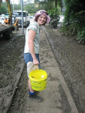 Small empet helping floods cleanup