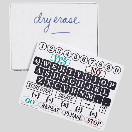 Small dry erase communications board