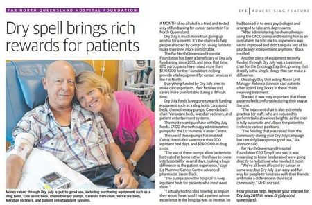 Small hospital foundation 20th birthday feature