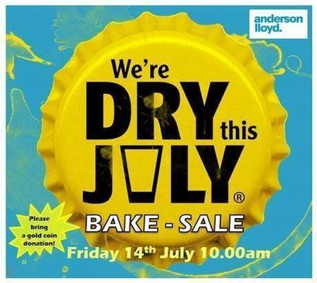 Small dry july bake sale